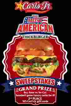 Carl's Jr Sweepstakes