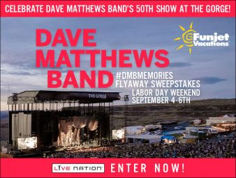 The Dave Matthews Band #DMBMemories Flyaway Sweepstakes Sweepstakes