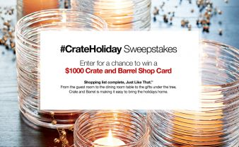 Crate And Barrel Sweepstakes