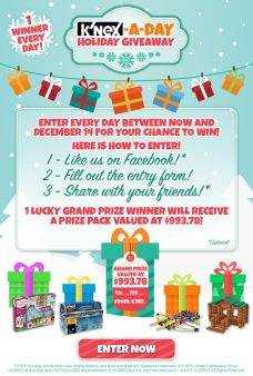 K'NEX-A-Day Holiday Giveaway Sweepstakes