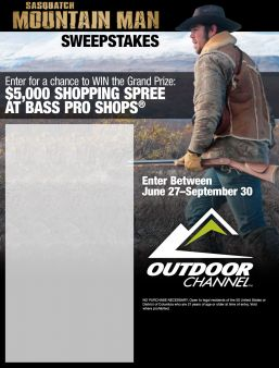 Bass Pro Shop · Mountain Man Sweeps Sweepstakes